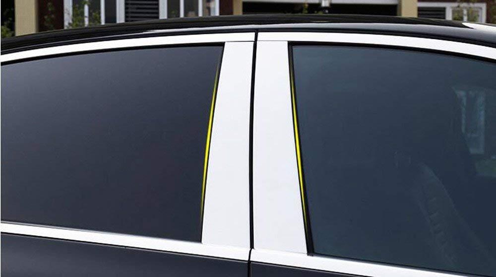 Aleación de aluminio pulido, pilar de la ventana, juego de acabados, juego de adornos, cubierta para W213 E clase 4, puerta Sedan AMG 2016-2018: Amazon.es: ...
