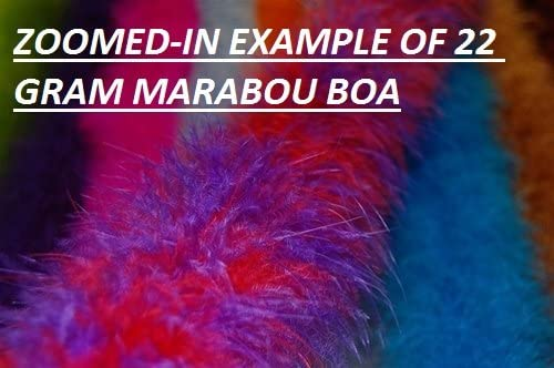 Thin Marabou Feather Boa 2 Yards Long 72 Wine 15 Grams : Various Colors