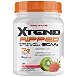 Scivation Xtend Ripped Bcaa Powder, Strawberry Kiwi, 30 Servings - Stimulant Free Branched Chain...