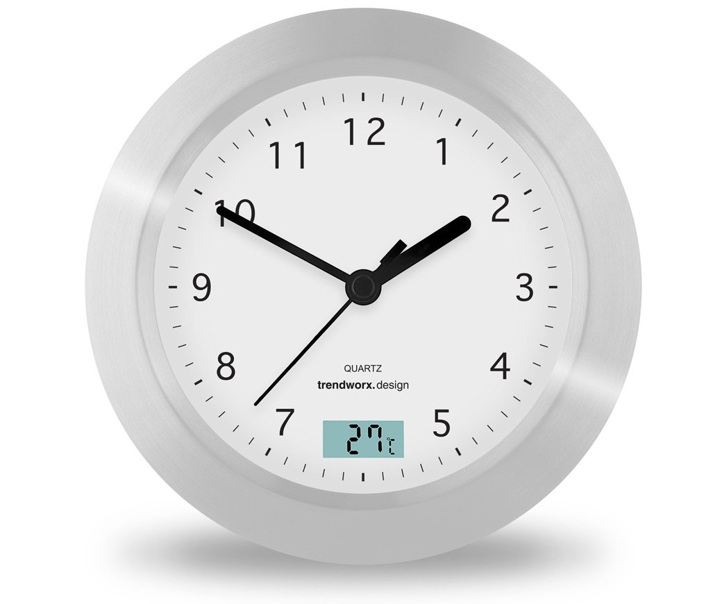 Trendworx 4044 Suction Cup Bathroom Clock With Digital Thermometer:  Amazon.co.uk: Kitchen U0026 Home Part 89
