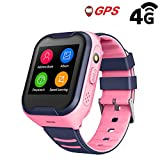 Kids Waterproof GPS Smart Watch, Laxcido 4G Children Video Phone Call Real-time Tracking Camera SOS