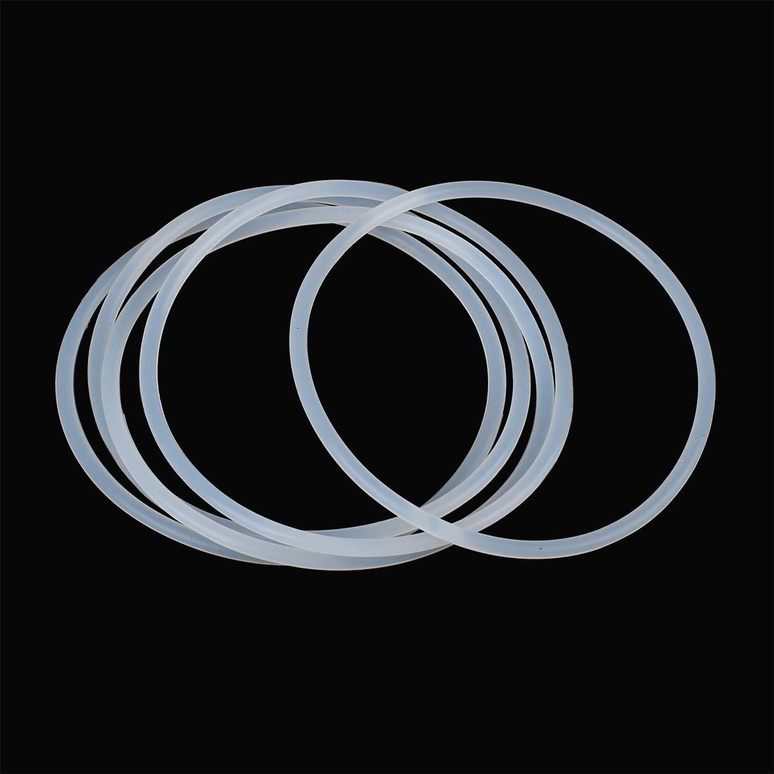 sourcing map 5 STK O-Ring VMQ Dichtungsscheiben Silikon Gummi 80mm x 3,1mm Wei/ß f/ür Auto