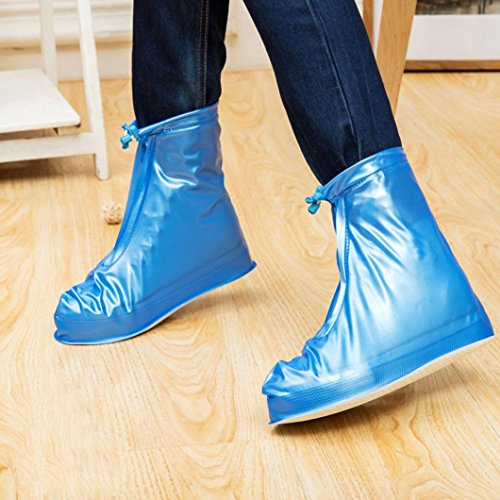 Hunpta Unisex Waterproof Rain Shoes Reusable Boots Slip Resistant Blue cXBxMctfzx
