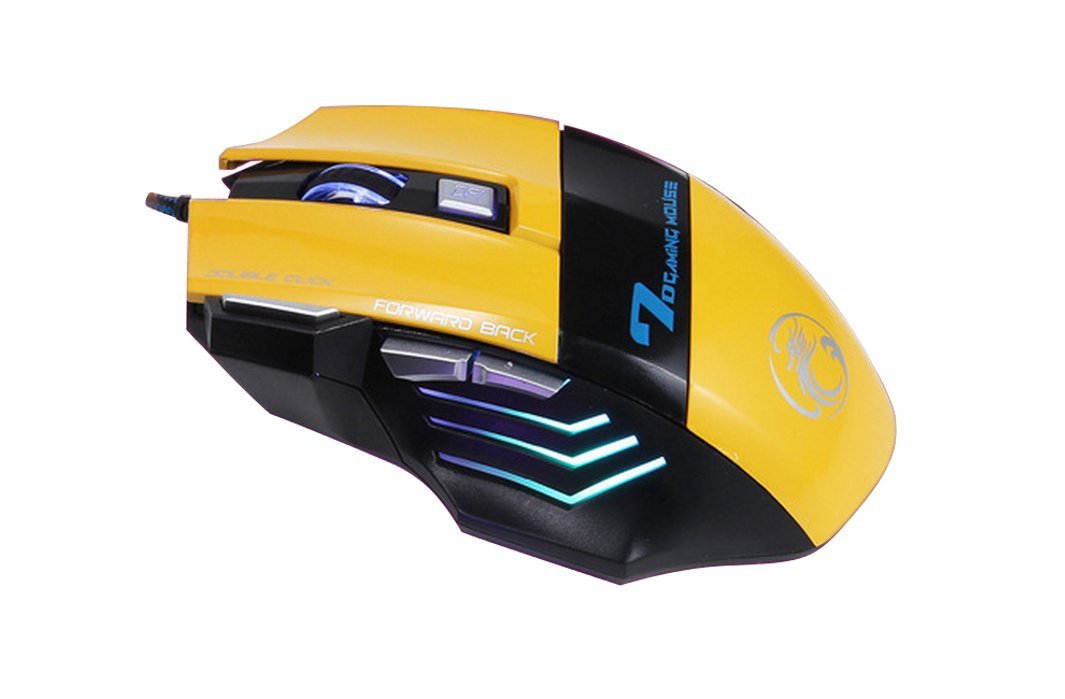 f0c84813cdb Klein Design / ESTONE X7 3200 DPI wired gaming mouse 7 buttons color  yellow: Amazon.co.uk: Computers & Accessories