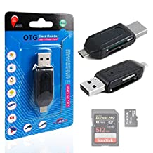 USB 2.0 + Micro USB SD / MicroSD OTG Card Reader For Your Samsung Galaxy V / Galaxy A3 / A5 / A7 / E5 / E7 - Perfect for Syncing & Transferring Pictures and Data - by DURAGADGET