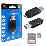 USB 2.0 + Micro USB SD/MicroSD OTG Card Reader for New Lenovo K3 / K3 Note Smartphone (2015 Release) - by DURAGADGET