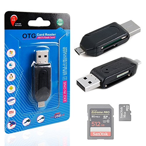 SD / MicroSD OTG Card Reader for Pioneer XDP-100R-K | XDP-300R High Resolution Digital Audio Player - by DURAGADGET ()