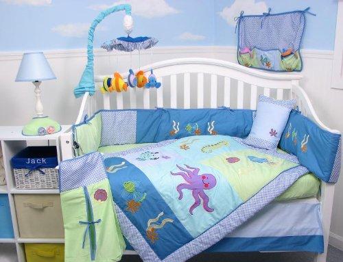 SoHo Deep Sea Aquarium Baby Crib Nursery Bedding Set 13 pcs