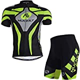 Nuckily Men's Cycling Jersey short Quick Dry Fabric Size M
