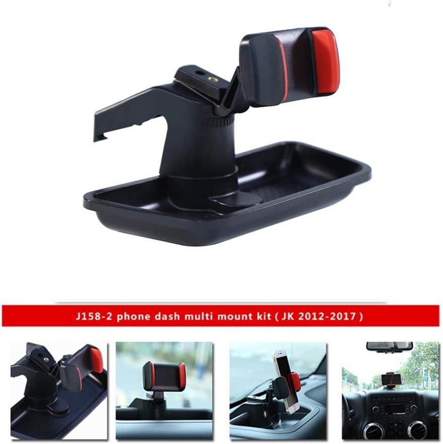 SXMA Dash Multi-Mount Kit de soporte para teléfono móvil para Jee P Wrangler JK 07-17