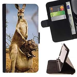 - Giraffe - - Monedero pared Design Premium cuero del tir?n magn?tico delgado del caso de la cubierta pata de ca FOR Samsung Galaxy Note 3 III Funny House