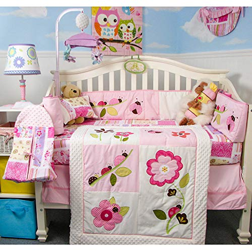 13 Piece Ladybug Party Baby Nursery Crib Bedding Set from SoHo Designs