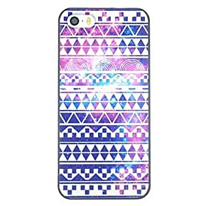 PEACH Multi-color Folk Style Pattern PC Hard Back Cover Case for iPhone 5/5S