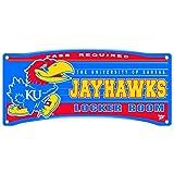 WinCraft Kansas Jayhawks Official NCAA 8'' x 18'' Locker Room Wall Sign 8x18.75 by 325365