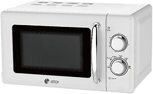 Artrom MM-720WML - Microondas retro, 700 W, color blanco: Amazon ...
