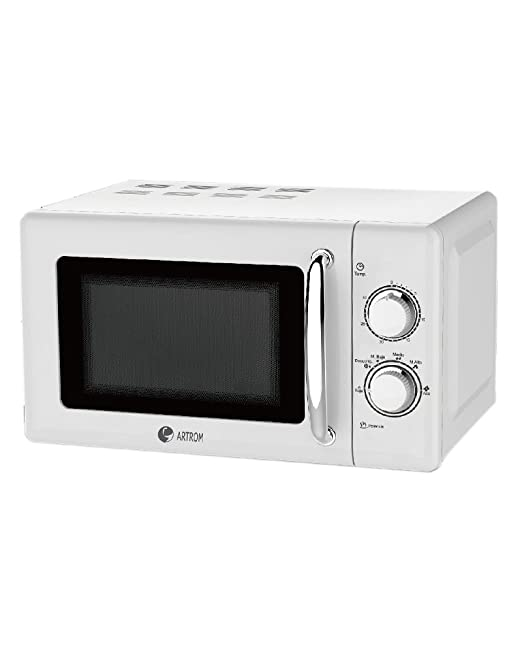 Artrom MM-720WML - Microondas retro, 700 W, color blanco