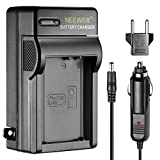 Neewer LED Battery Charger for Canon LP-E10 with US Plug EU Plug Adapter Car Charger Adapter, Compatible with Canon EOS Rebel T3 T5 T6 Kiss X50 Kiss X70 EOS 1100D EOS 1200D EOS 1300D Digital Cameras