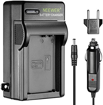 Neewer Cargador LED para, con Enchufe USA Enchufe UE & Adaptador de Coche, Apto para cámaras Digitales Canon EOS Rebel T3 T5 T6 para Kiss X70 EOS ...