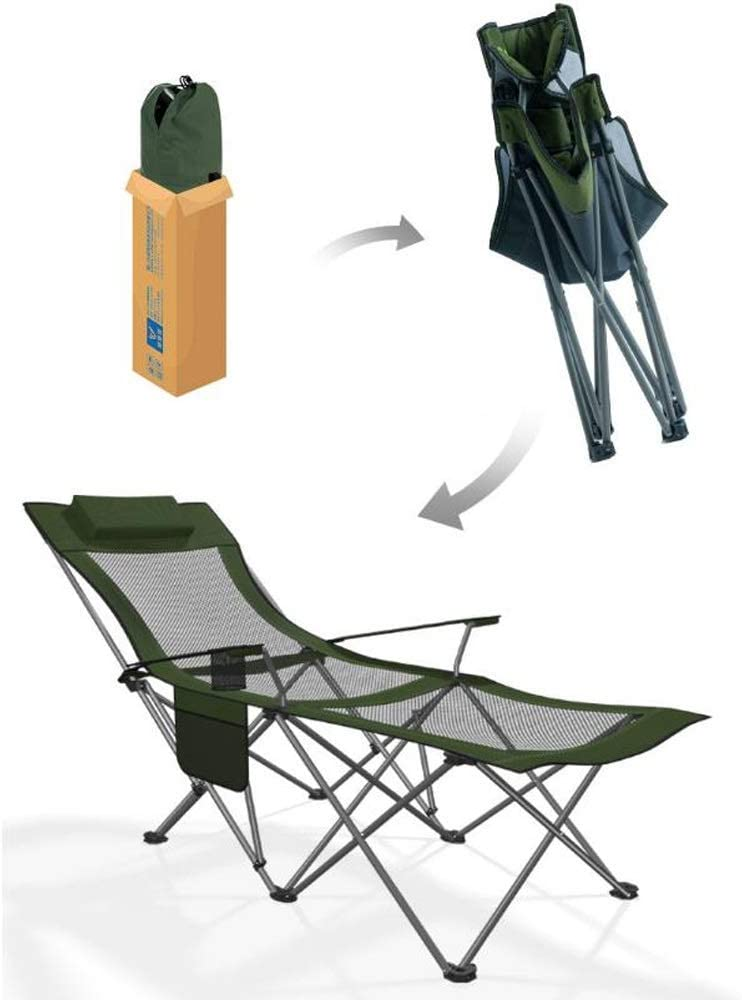 YLCJ Folding camping leisure chair, reclining chair, with adjustable backrest, beach, camping, garden, folds for easy storage 175 x 58 x 70 cm (color: C) D