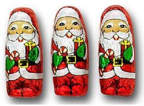 Foil Chocolate Santa - Mini Santa Claus Christmas Premium Chocolate 50 Pieces by FavorOnline