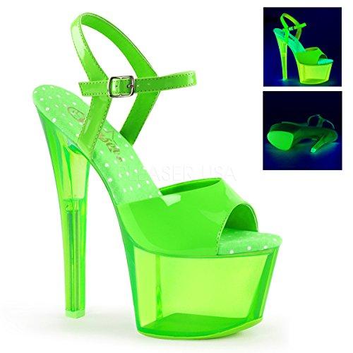 Pleaser Women#039s Sky309uvt/ngn/gnt Platform Sandal Neon Green Tinted 8 M US