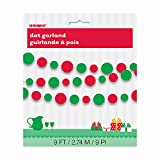 9ft Paper Red & Green Christmas Circle Garland