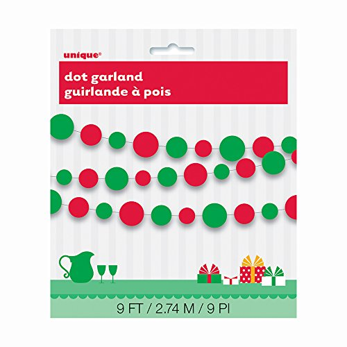 9ft Paper Red & Green Christmas Circle -