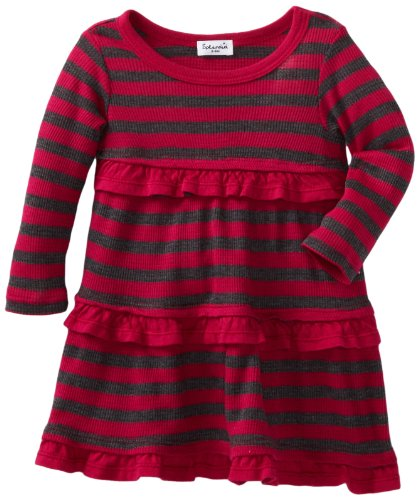 Splendid Littles Baby-girls Newborn Charcoal Stripe Thermal Dress
