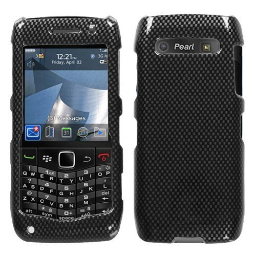 Carbon Fiber Phone Protector Faceplate Cover For RIM BLACKBERRY 9100(Pearl 3G) (Faceplate Carbon Fiber Protector)