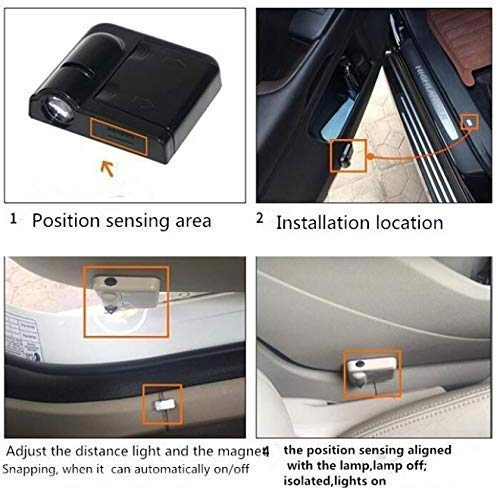 Baltimore Ravens wesport Car Door Led Welcome Laser Projector Car Door Courtesy Light Suitable Fit for all brands of cars
