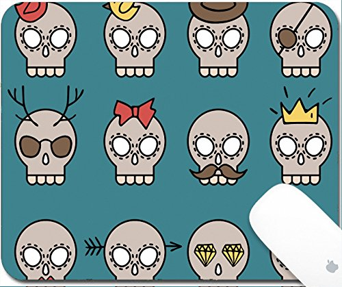 Luxlady Gaming Mousepad 9.25in X 7.25in IMAGE: 32142911 Cute vector skull icons set with different elements such as moustache diamond crown hat glasses bird bow arrow heart - Styles For Moustache Shapes Face