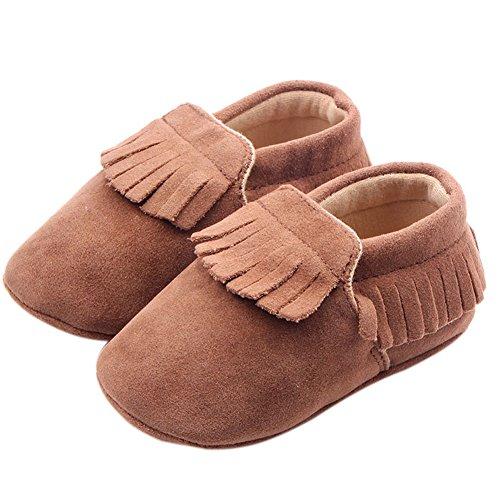 etrack-online Infant Baby Mocasín Borlas Suave Suela Antideslizante Zapatos de Prewalker marrón marrón Talla:12-18months marrón