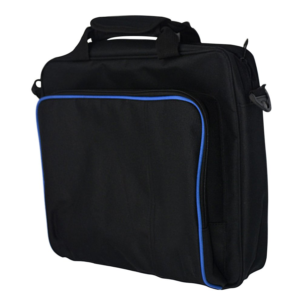 New Travel Storage Carry Case Protective Shoulder Bag Handbag for Playstation PS4, PS4 Pro and PS4 Slim System Console Carrying Bag and Accessories #81050 (Black-Large) by Beststar (Image #7)