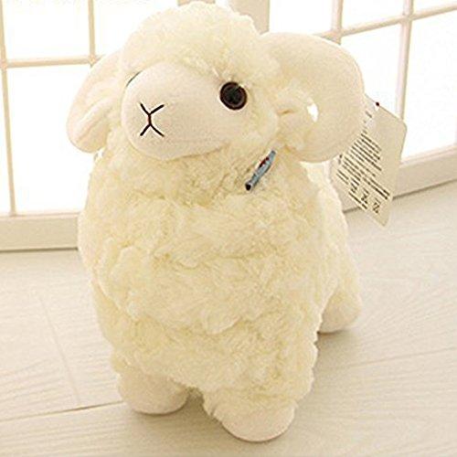 LUCKSTAR(TM) Creamy White 28CM Lovely Soft Sheep Goat Animal Stuffed Plush Doll Toy Birthday Gift Home Decoration