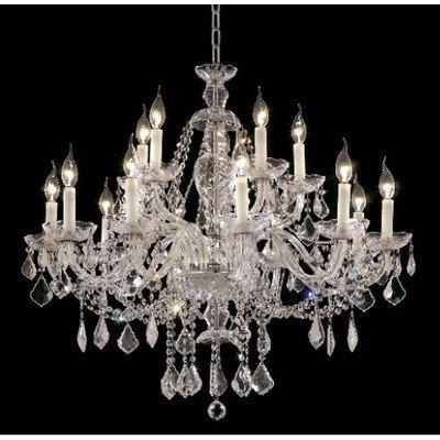 Alexandria 12 Light Chandelier Finish: Chrome, Crystal Trim: Elegant Cut