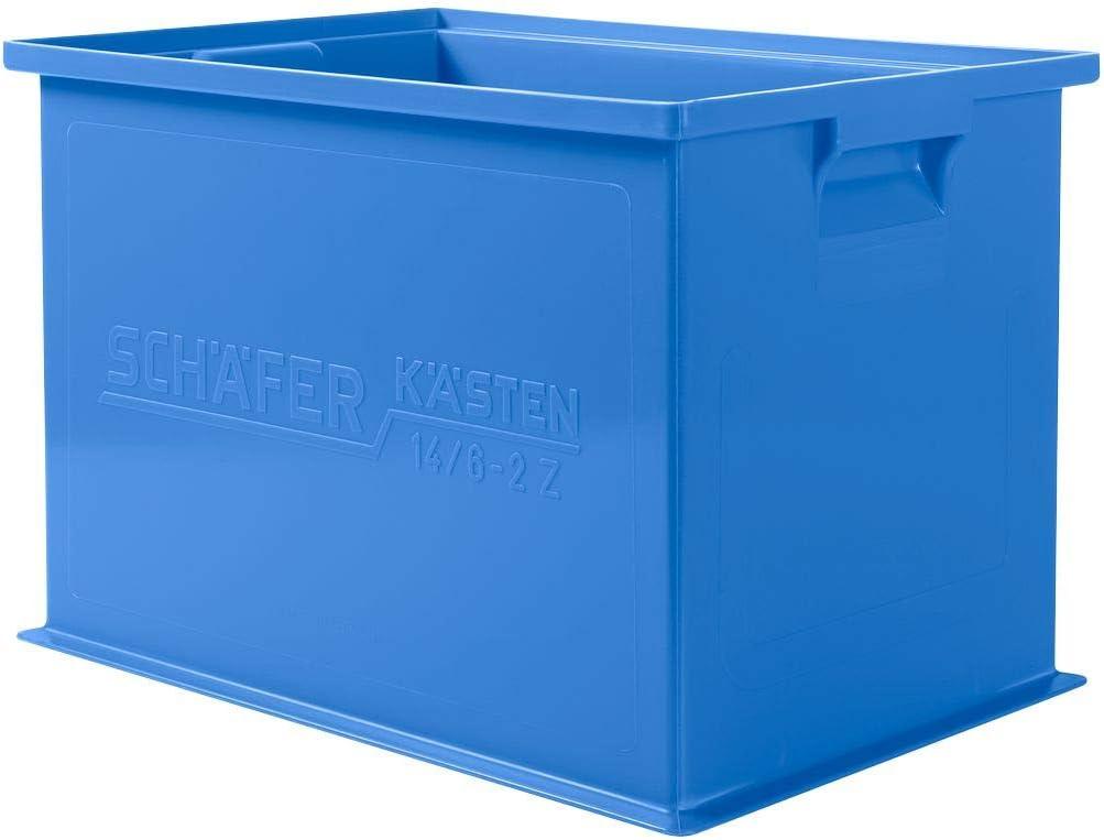 Inhalt 33 Liter SSI SCH/ÄFER Stapeltransportkasten 14//6-2Z mit Griffmulde Tragkraft 30 kg Gr/ün