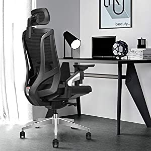 傾斜制限デバイス付きの人間工学に基づいたハイバックメッシュオフィスチェア