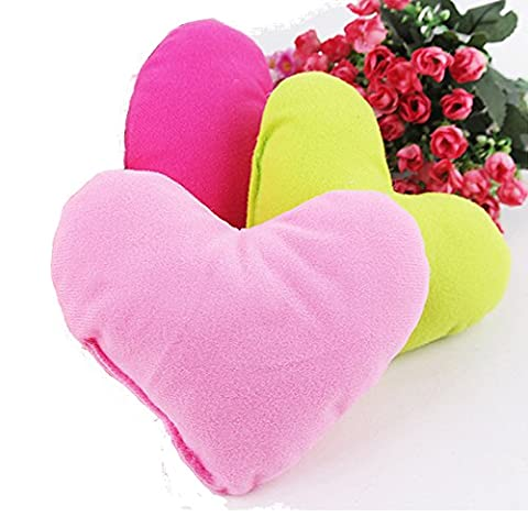 Colorful PP Cotton Lovely Small Dog Pillow Padded Heart Shaped Pillow For Pet Toys Soft Plush Dog Bed Puppy Kennel Pillow 3 (Jake Sandals)