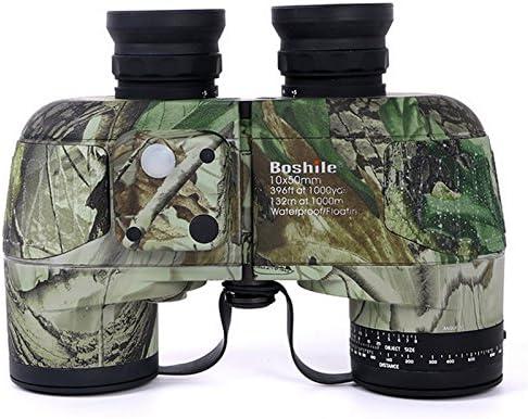LightInTheBox - Prismáticos con múltiples revestimientos para visión nocturna (10 x 50 cm, impermeable, con telémetro y brújula Ranger Finder
