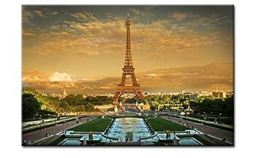 Top Impression Sur Toile Paris En Hdr 80 X 60 Cm Art Nr A00769 Tour
