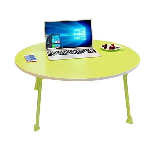 Qi Peng Mesa plegable - Portátil Mesita pequeña Cama con mesa ...