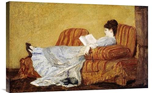 - Global Gallery Budget GCS-267837-30-142 Mary Cassatt Young Lady Reading Gallery Wrap Giclee on Canvas Wall Art Print