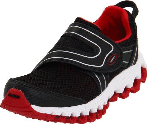 Price comparison product image K-Swiss 62660 Tubes Race 100 VLC Running Shoe (Little Kid/Big Kid),Black/True Red/Silver,5.5 M US Big Kid