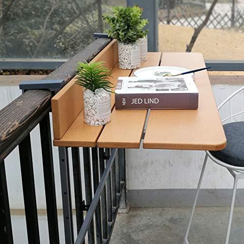 Folding table Balcony Railing Hanging Table|Computer Desk|Home Small Bar | Lifting Balcony Casual Coffee Table | Sun Protection, Rainproof, Height Adjustable