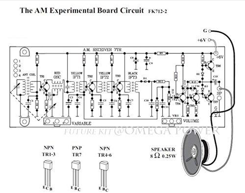 Amazon com: Assembled Electronic Circuit Kit 7 Transistor AM