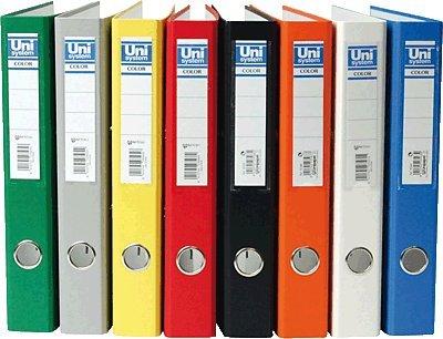 Unisystem 092377 - Archivador, lomo estrecho, color rojo: Amazon.es: Oficina y papelería