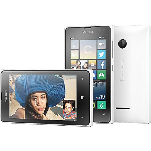 Microsoft Lumia 435 Windows 8 GSM Smartphone, No Contract, T-Mobile, White (Windows Phones Unlocked Gsm)
