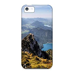 Hot Nature Mountains View From Above First Grade Tpu Phone Case For Iphone 5c Case Cover