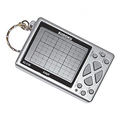 Puzzle Game Sudoku KeyChain LCD Screen Automatic Solving Puzzle Toys Keychain Accessories (Sudoku Game Keychain)