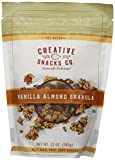 Creative Snacks Vanilla Almond Granola Clusters, Great for Snacking or Cereal, 12 ounce bag